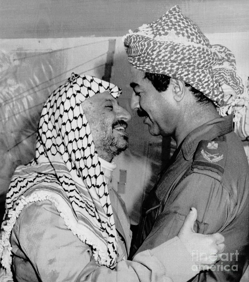 Saddam Hussein Greets Yasser Arafat Photograph by Bettmann