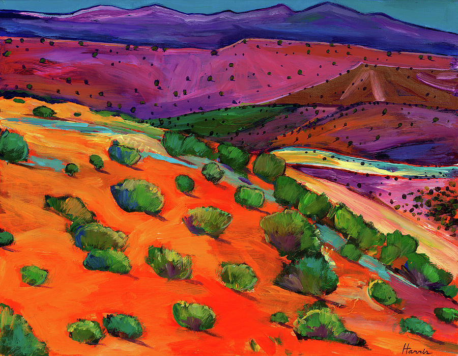 New Mexico Painting - Sage Slopes by Johnathan Harris