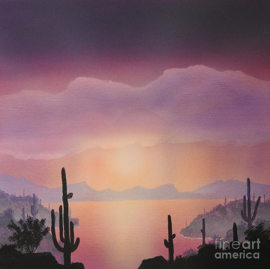 Saguaro Lake Sunrise by Jerry Bokowski