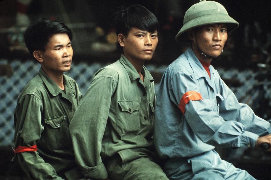 Saigon In Vietnam On May 01, 1975 - Photograph by Herve Gloaguen
