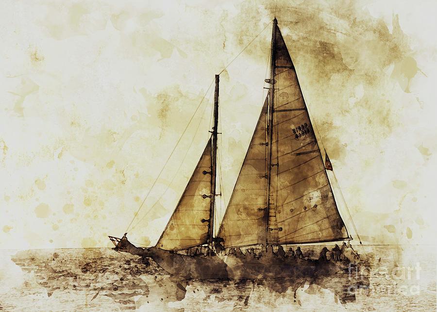 Sail Boat by Mark Jackson