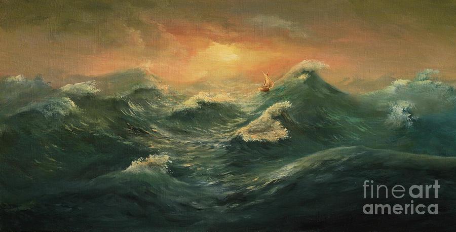 Sail In The Sea Digital Art by Pobytov