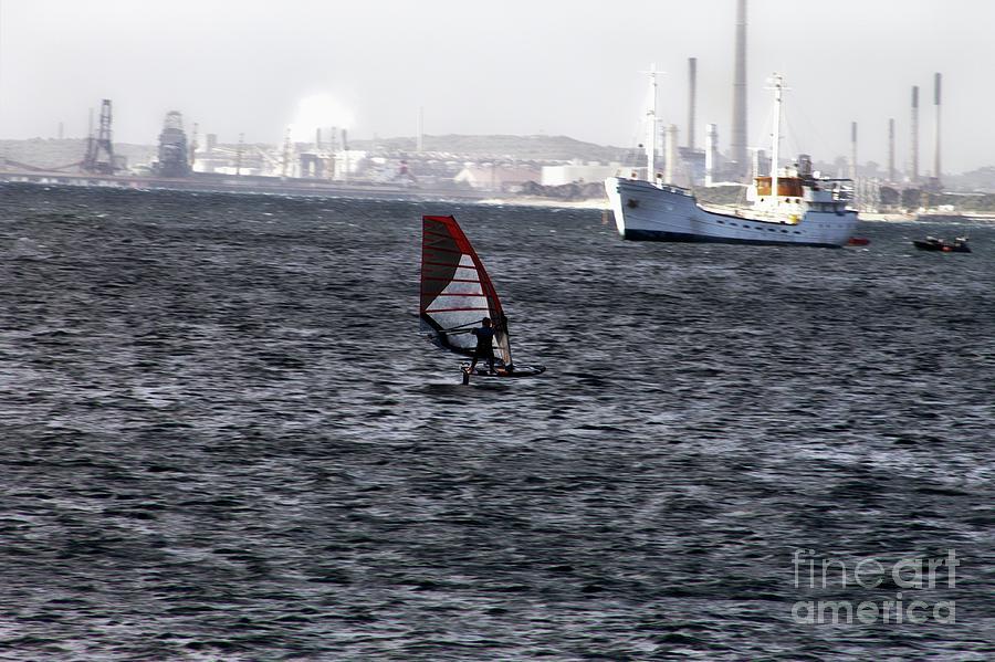 Sailboarding - Industrial by Carolyn Parker