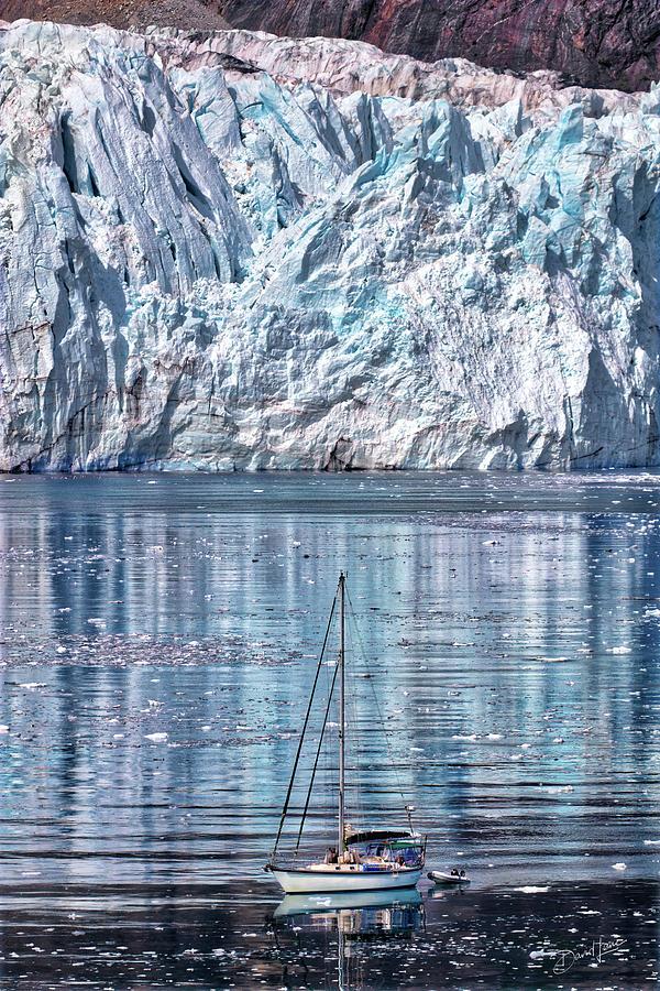 Sailboat and Glacier by David A Lane