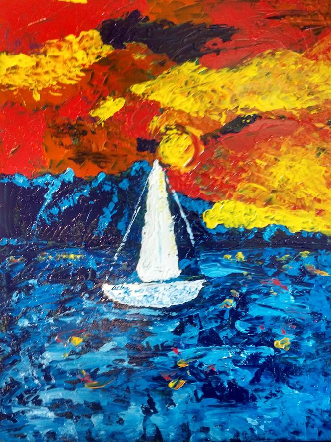 Sailboat by April Clay