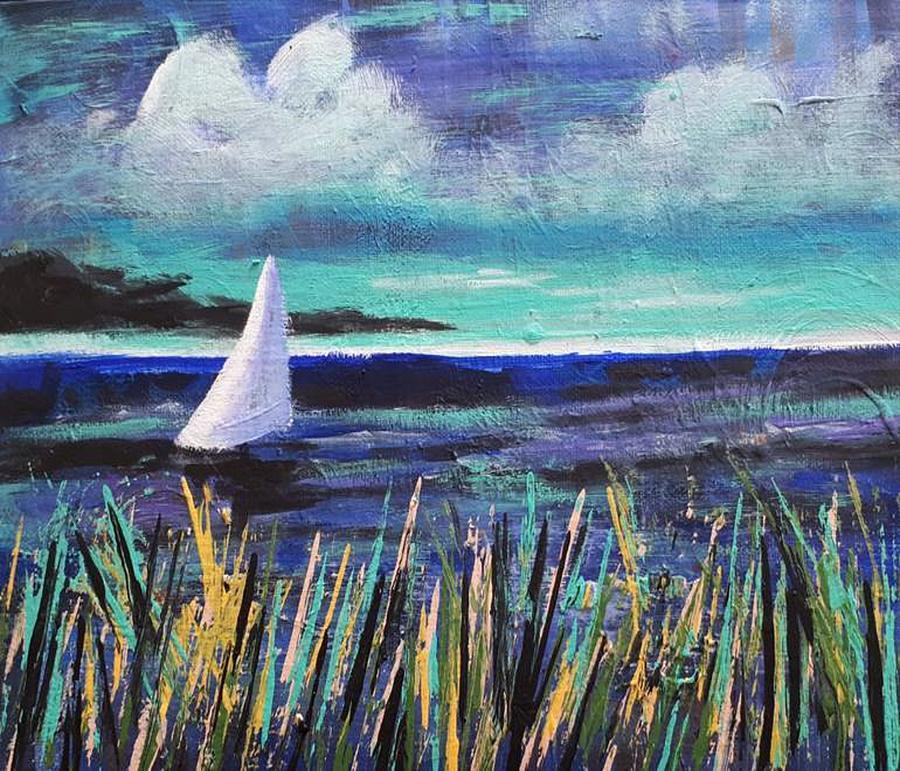 Sailboat Drifting by Nikki Dalton