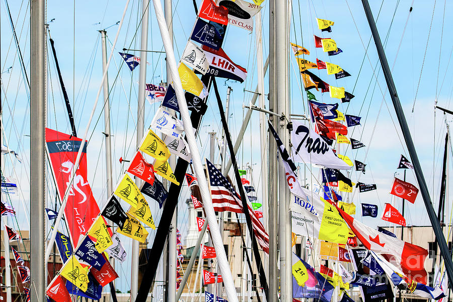 Sailboat Flags by Randy J Heath