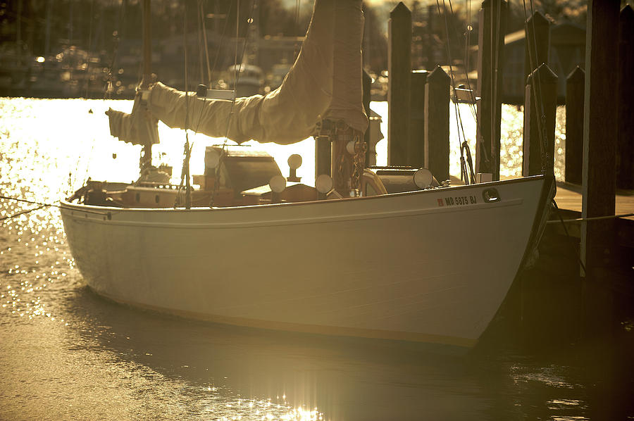 Sailboat in Morning Light by Mark Duehmig