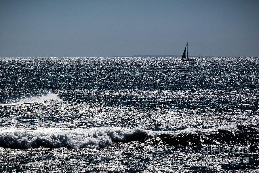 Sailboat off Shore  Dana Point by Stefan H Unger