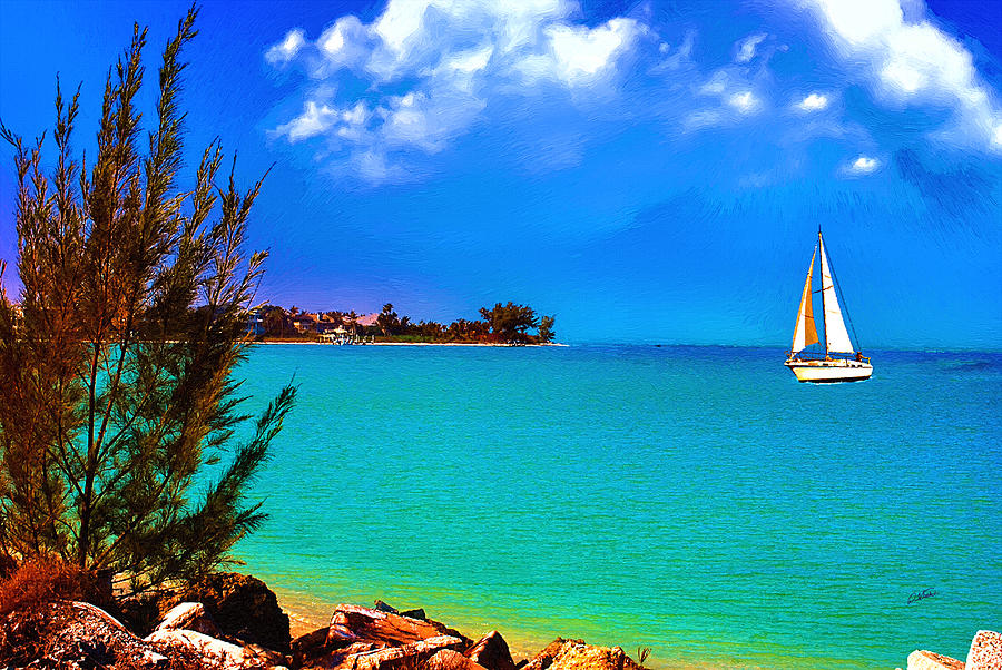 Sailboat off Southwest Florida - DWP1192976 by Dean Wittle