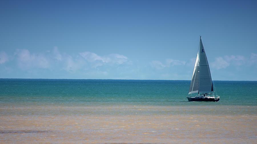 Sailboat on Blue 10071901 by Rick Veldman