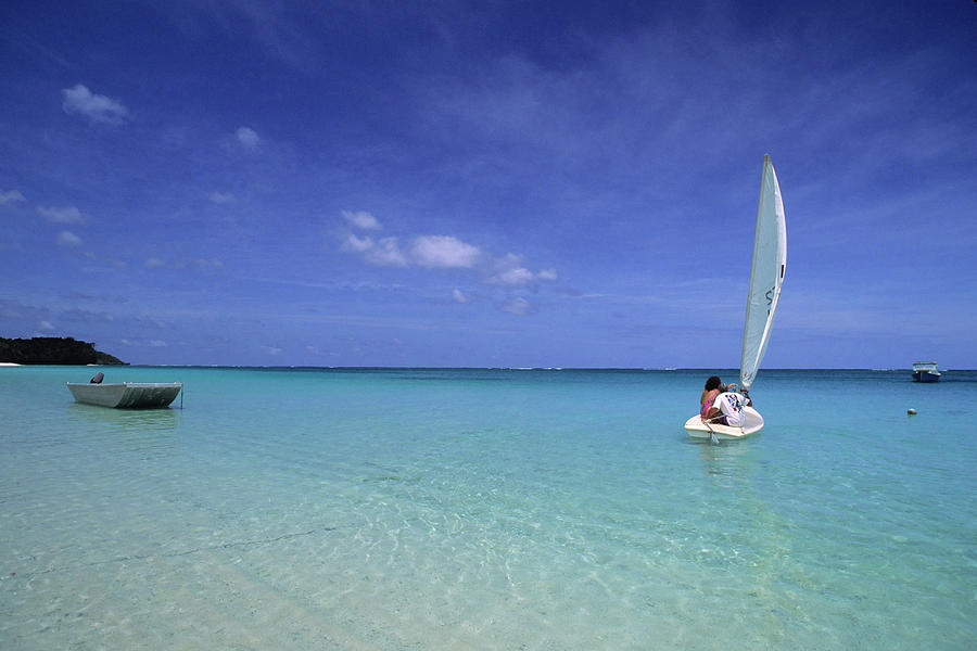 Sailboat On Crystal Blue Water Photograph by Tammy616