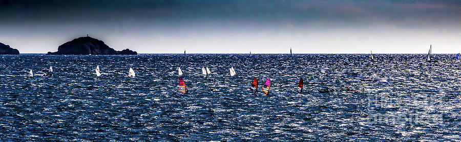 Sailboat Racing in the Mediterranean by Thomas Marchessault
