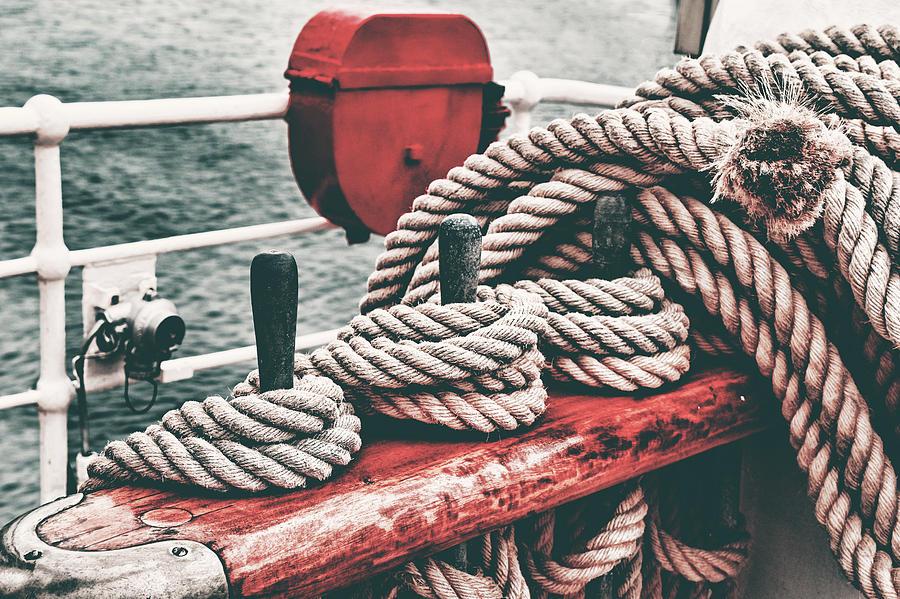 Sailboat Ropes Retro Photograph