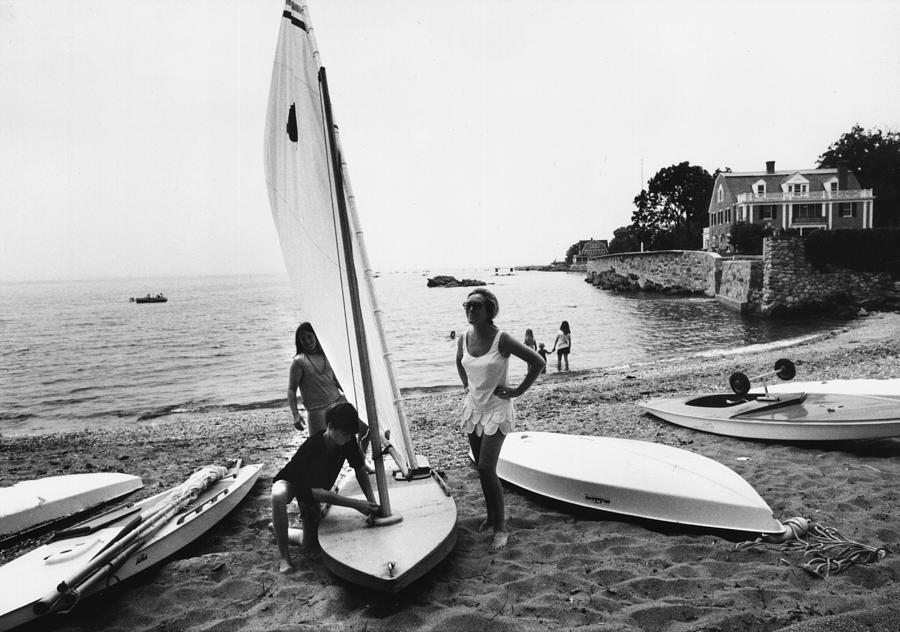 Sailboat Photograph by Slim Aarons
