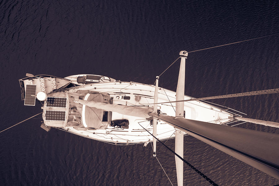Sailboat Viewed from the Masthead by Pacific Northwest Sailing