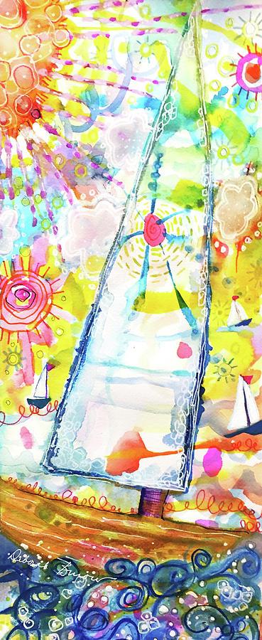 Sailboats in Sunshine by DEBORAH BUROW