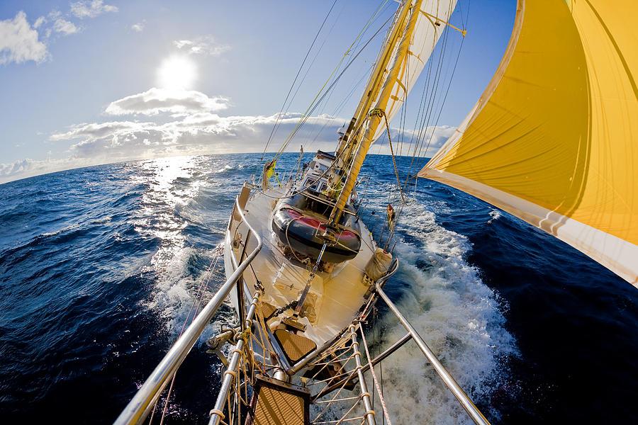 Sailing A Ketch Photograph by John White Photos