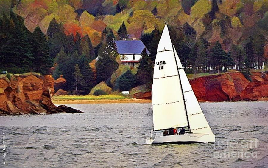 Sailing at Prince Edward Island by Art MacKay