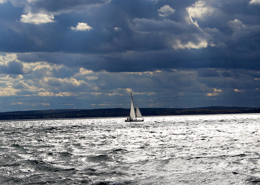 Sailing before the storm by John Olson
