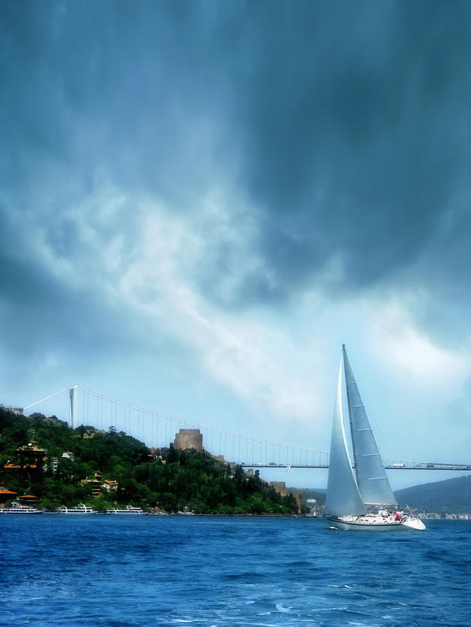 Sailing Boat In Istanbul Photograph by Imagedepotpro