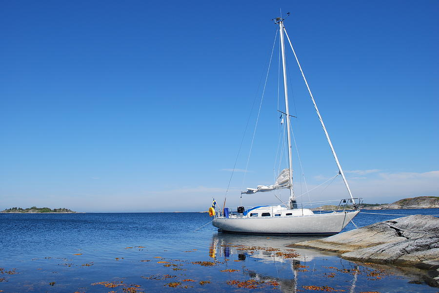Sailing Boat In The Swedish Archipelago Photograph by Mdesign se