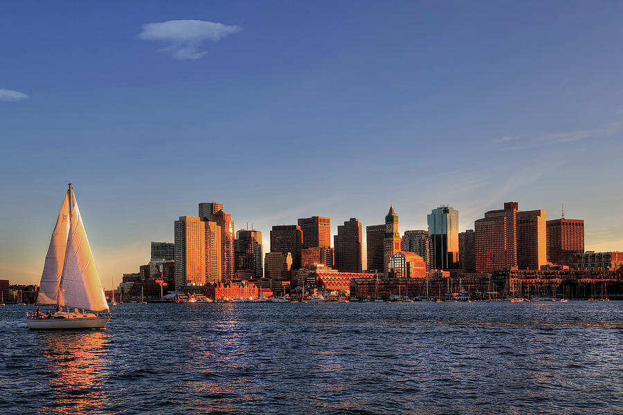 Sailing Boston Harbor by Joann Vitali