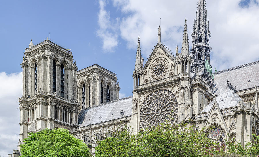 Sailing by Notre Dame by Douglas Wielfaert