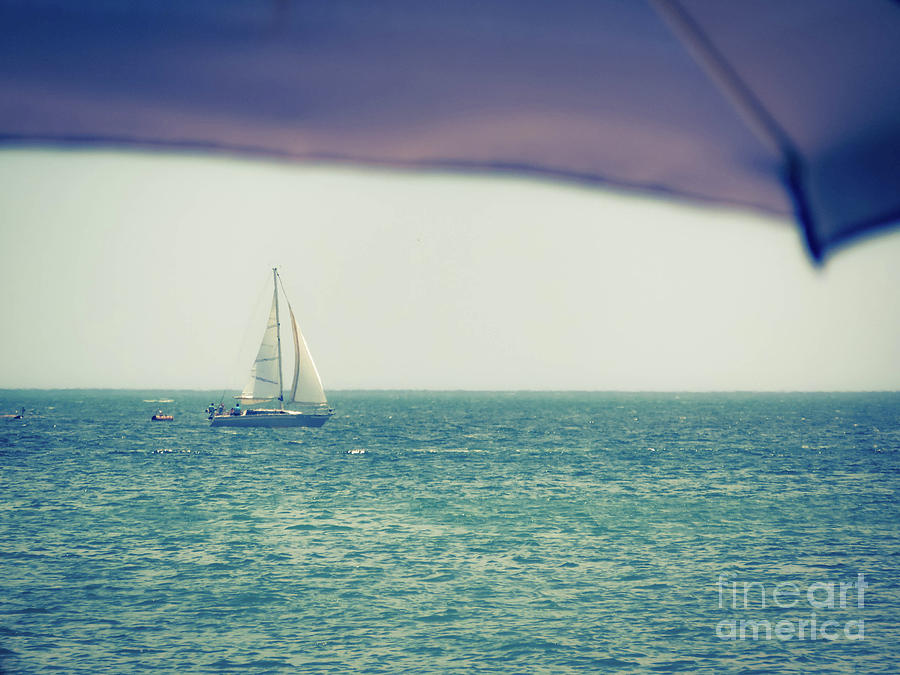 Boat Photograph - Sailing by Gina Matarazzo