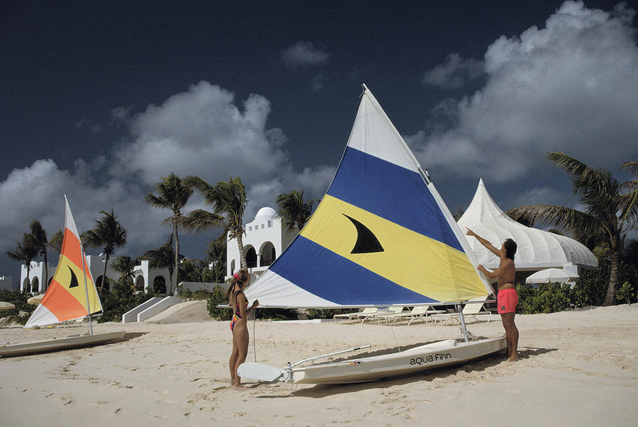 Sailing In Anguilla Photograph by Slim Aarons