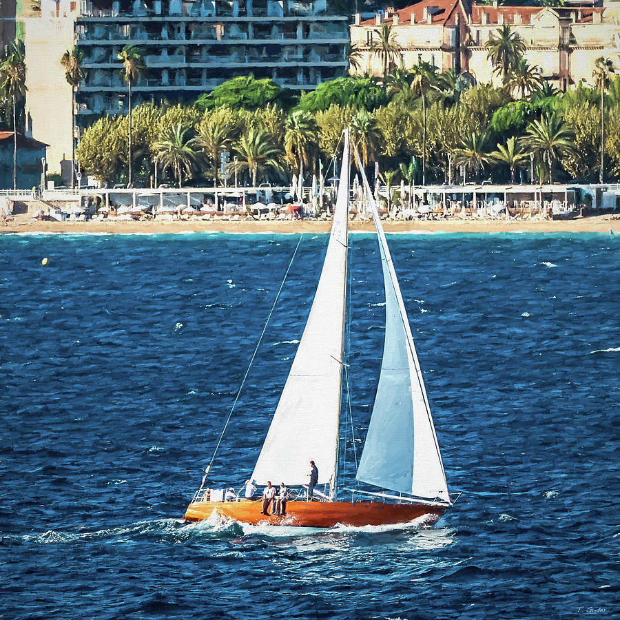 Sailing in France Square Edition by TONY GRIDER