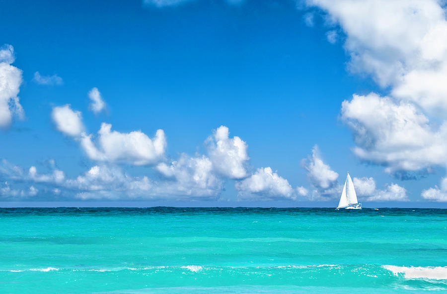 Sailing In The Caribbean Sea Photograph by Apomares