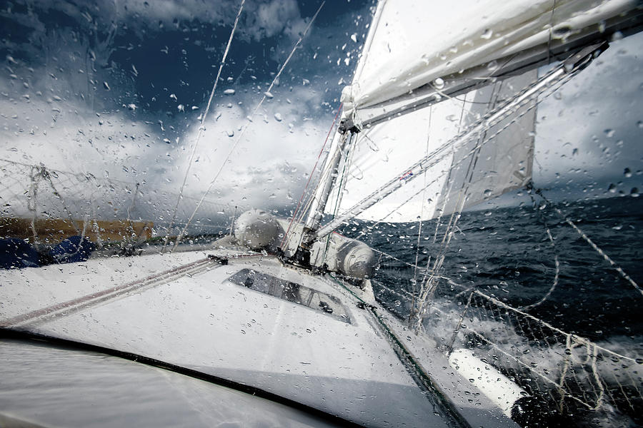 Sailing In The North Sea During A Storm Photograph by Sindre Ellingsen