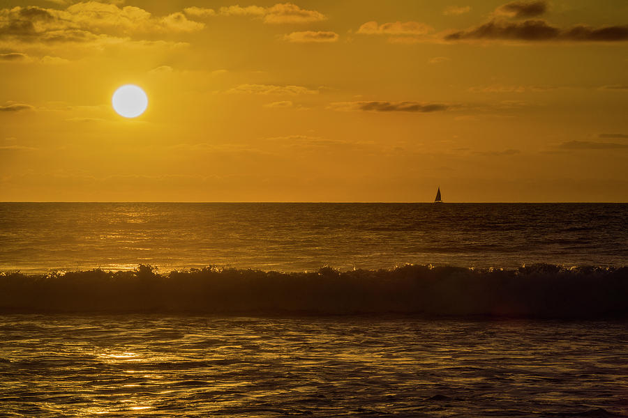 Sunset Photograph - Sailing Into the Sunset by Jonathan Hansen