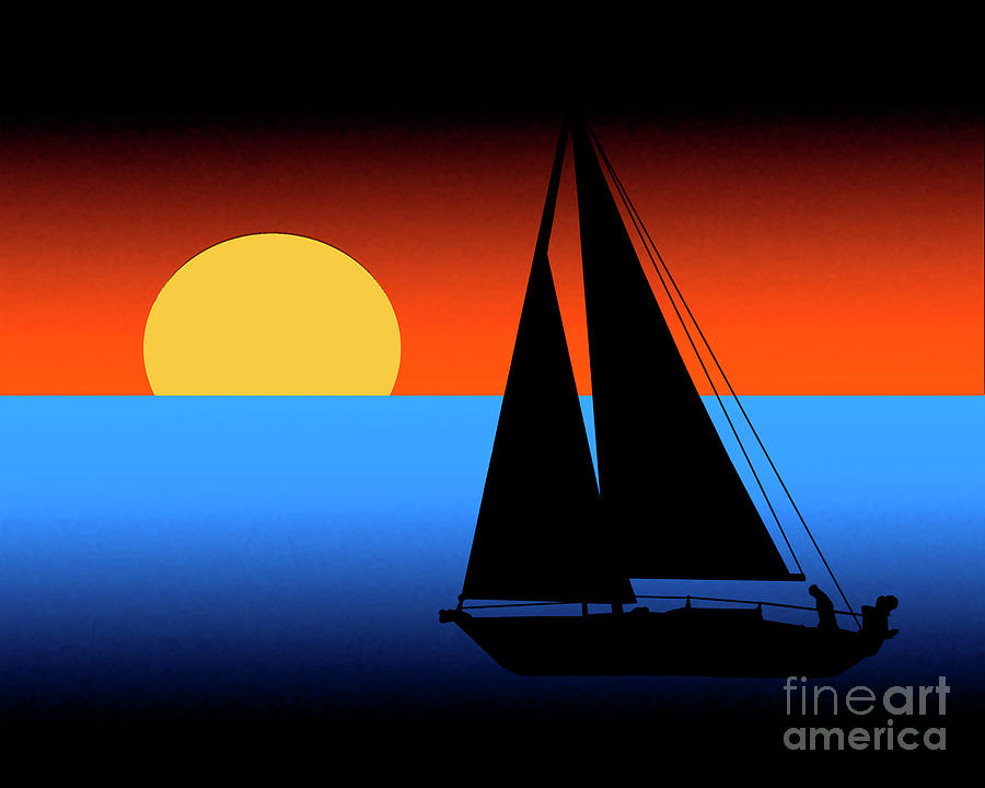 Sailing Into The Sunset by Kirt Tisdale