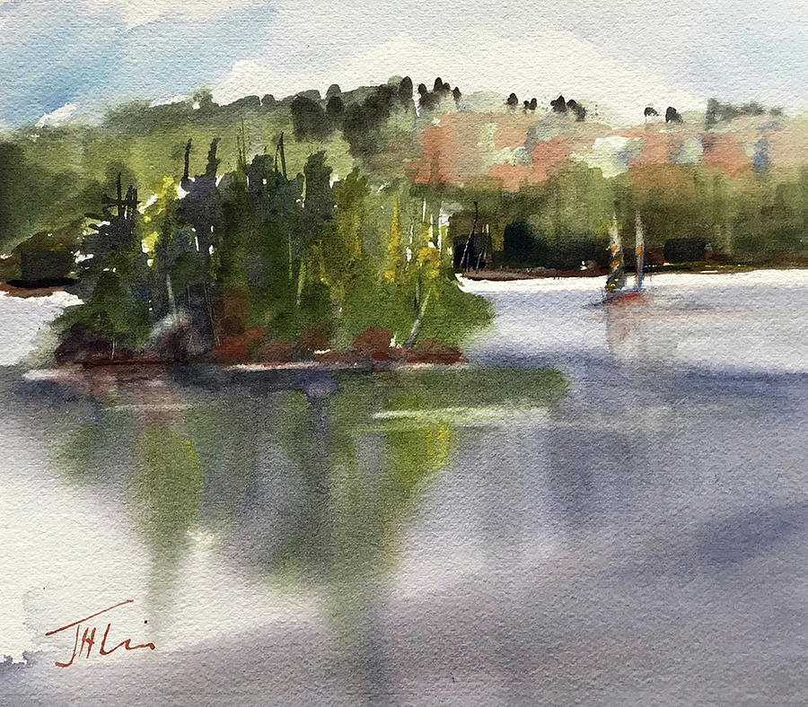 Sailing on First Lake by Judith Levins