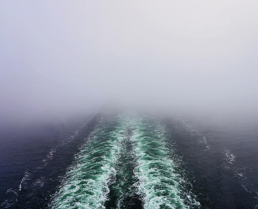 Sailing Out Of The Mist And Fog On The Baltic Sea by Richard Rosenshein