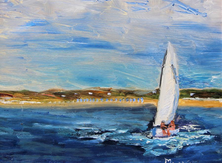 Sailing Provincetown Waters by Michael Helfen