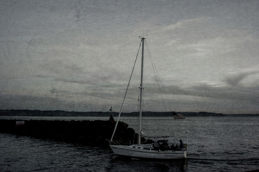 Sailing Puget Sound - Antiqued by Cathy Anderson