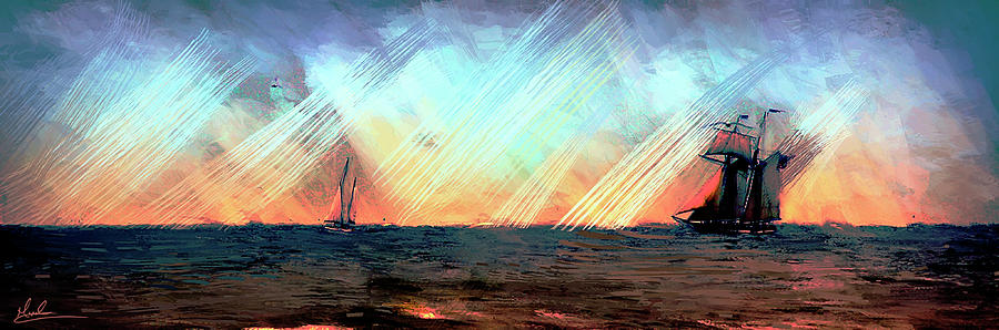 Sailing Ships II by GW Mireles