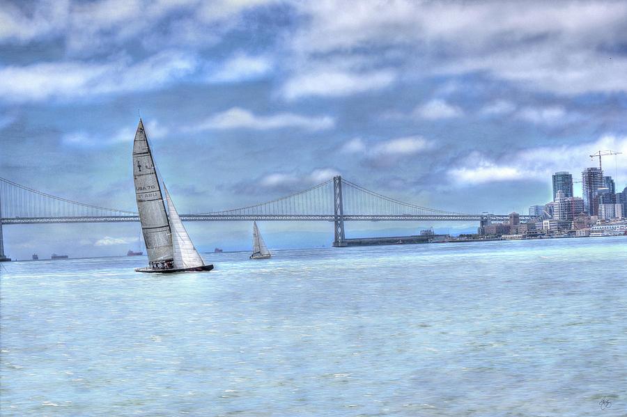 Sailing the Bay Bridge by Wayne King