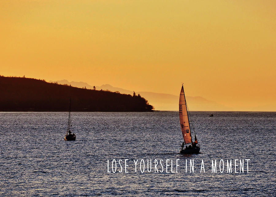 Vancouver Photograph - Sailing The English Bay Quote by JAMART Photography