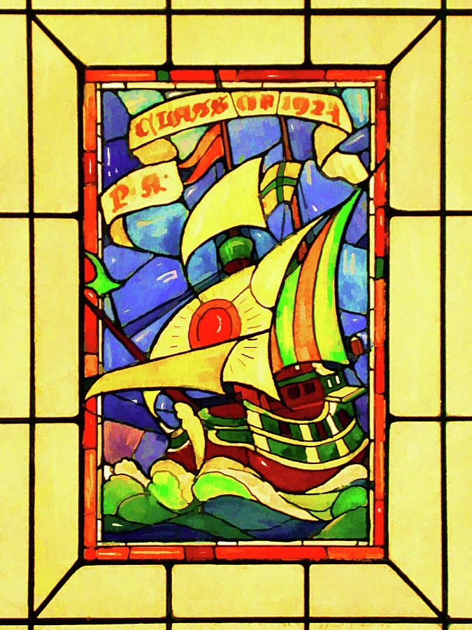 Sailing the Stained Glass Sea by Rick Wicker