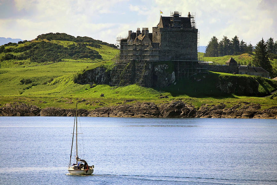 Sailing to Duart Castle - Clan MacLean - Isle of Mull Scotland by Jason Politte