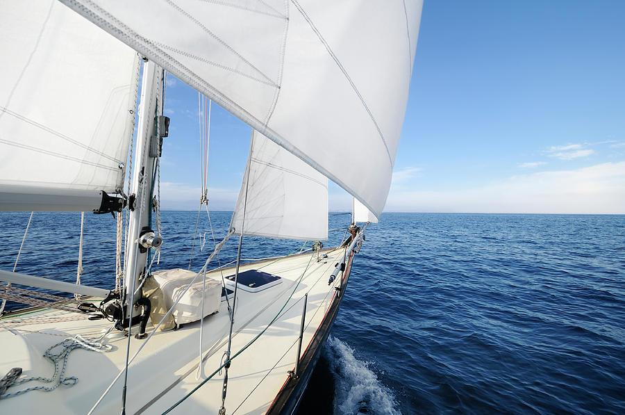 Sailing Towards The Horizon On A Sunny Photograph by Nikitje