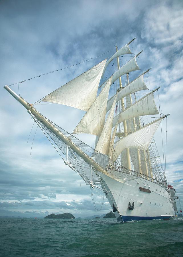 Sailing Under Blue Sky Photograph