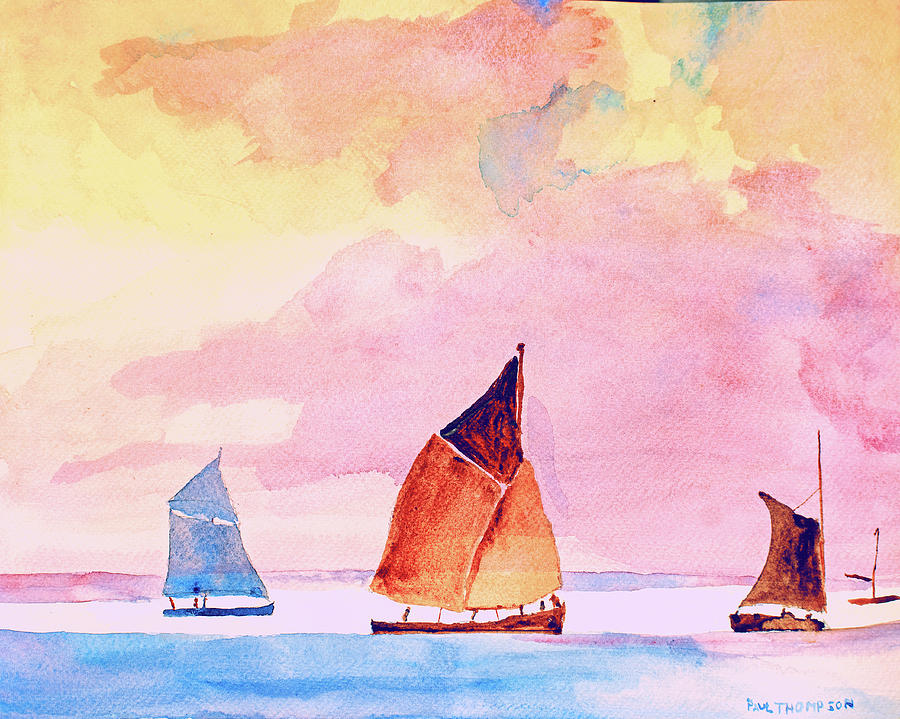 sailing vessels long ago by Paul Thompson