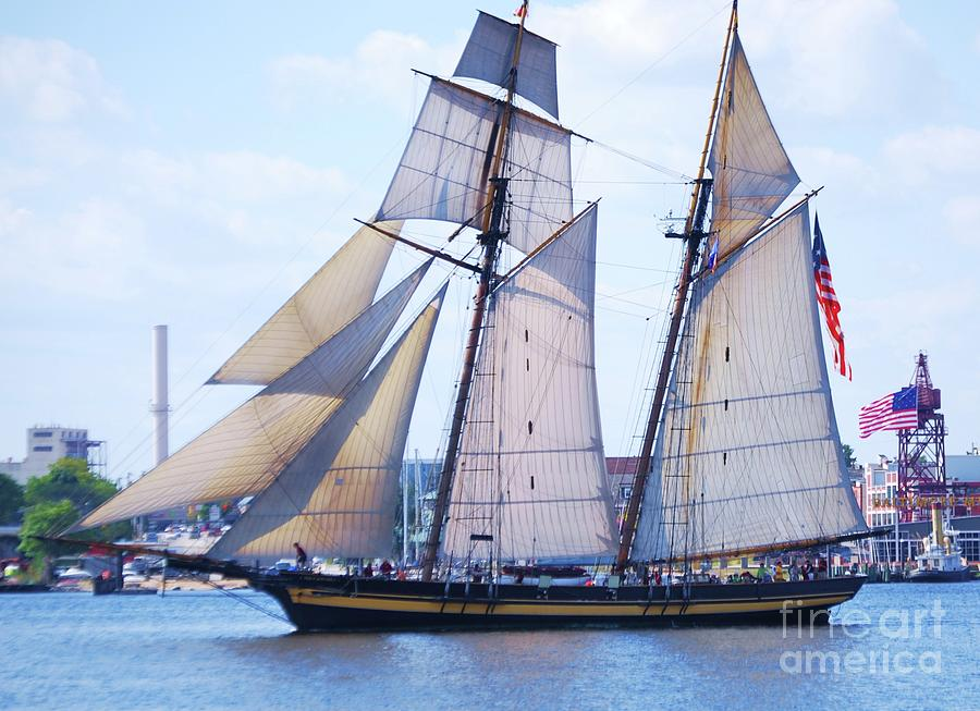 Sailing With Pride Photograph by Poets Eye