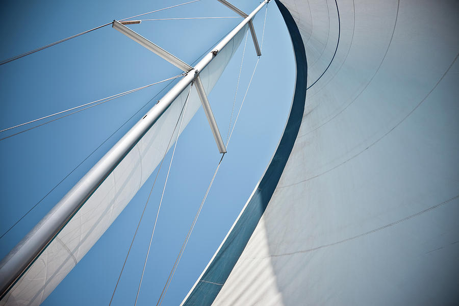 Sails Against A Clear Blue Sky Photograph by Piccerella