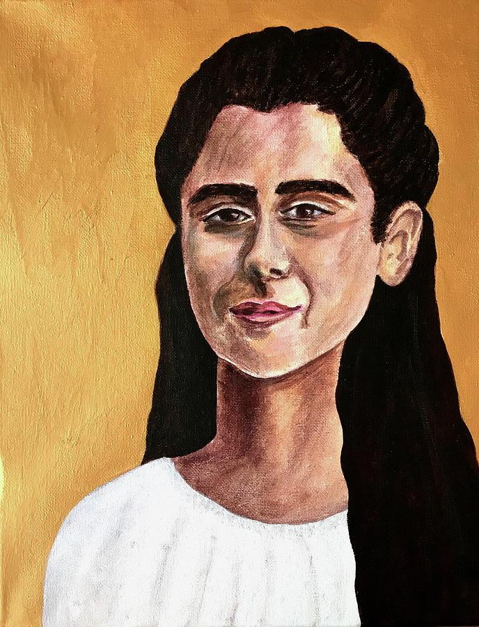 Saint Painting - Saint Agnes by Mikayla Ruth Koble
